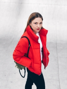 Outfit, Fashion, red Puffer Jacket, Style