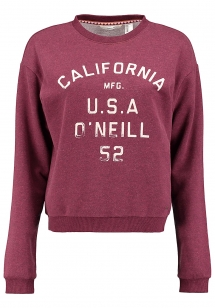 oneill-easy-crew-sweatshirt-damen-rot